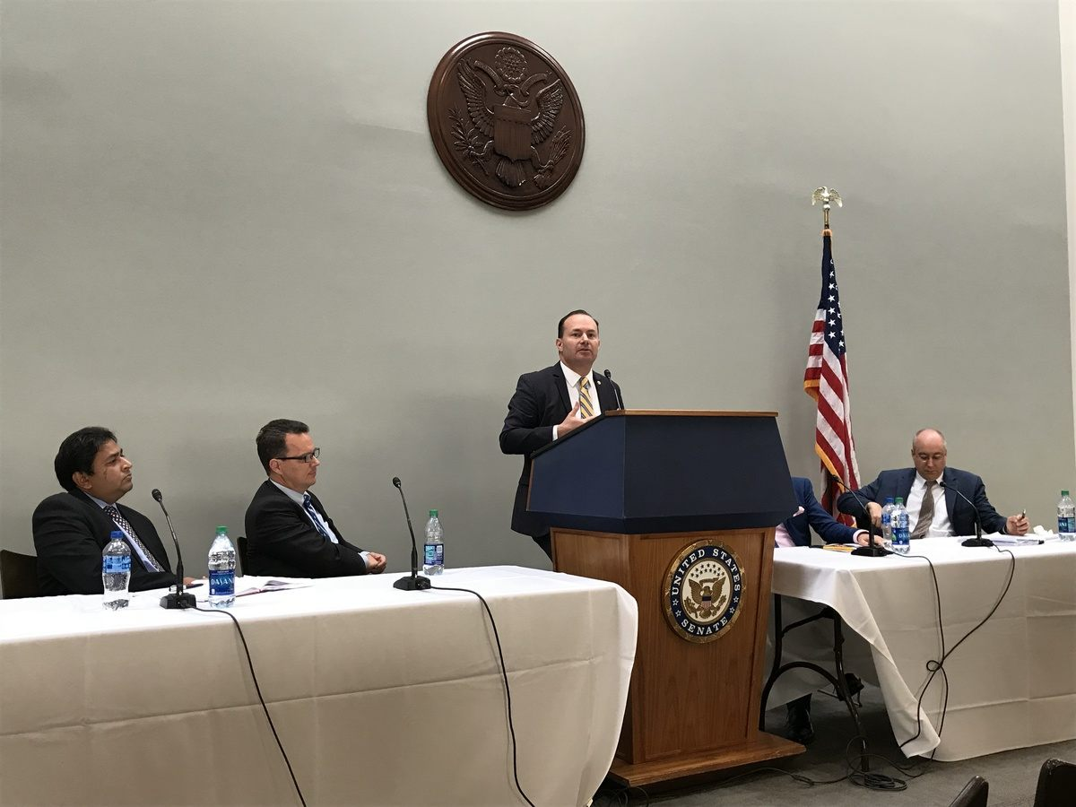 Senator Mike Lee addresses our US launch event