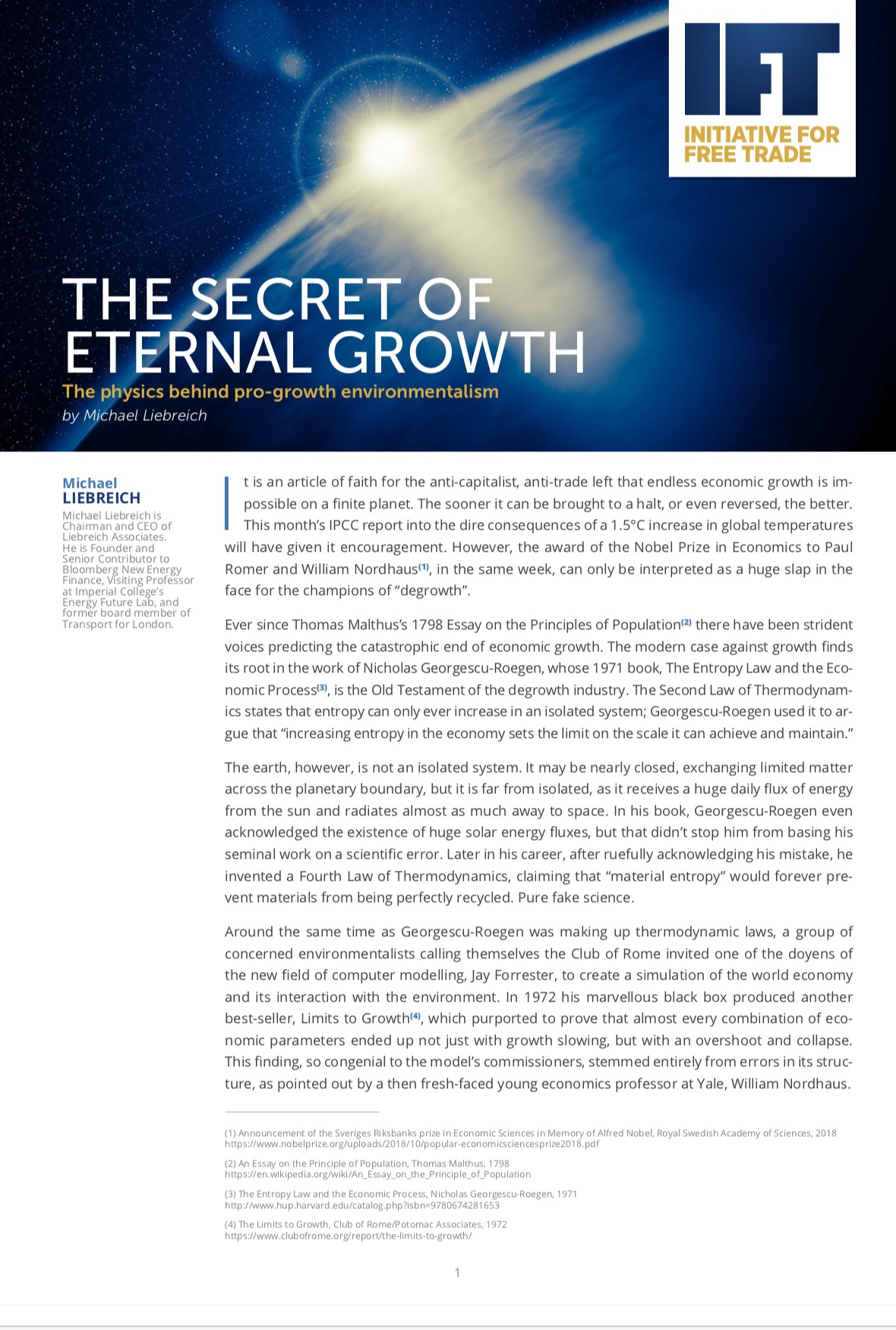 The secret of eternal growth